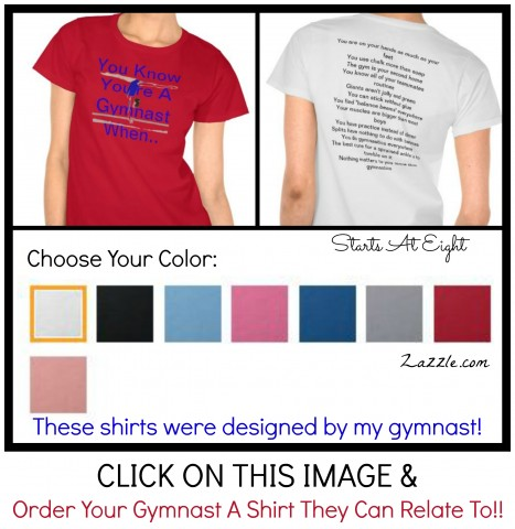 You Know You're A Gymnast When (Zazzle.com) from Starts At Eight