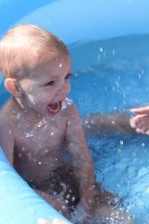 Wordless (almost) Wednesday ~ Alex loves water