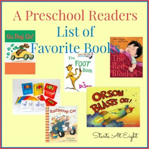 A Preschool Readers List of Favorite Books from Starts At Eight