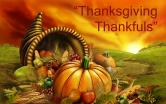 Thanksgiving Thankfuls ~ November 15th-29th