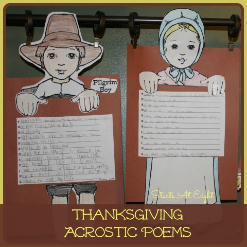 Thanksgiving Acrostic Poems from Starts At Eight
