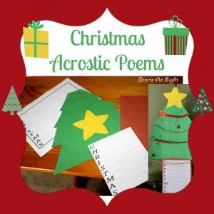 Christmas Acrostic Poems from Starts At Eight