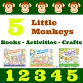 5 Little Monkeys: Books – Activities – Crafts & More