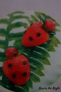 Strawberry Ladybugs