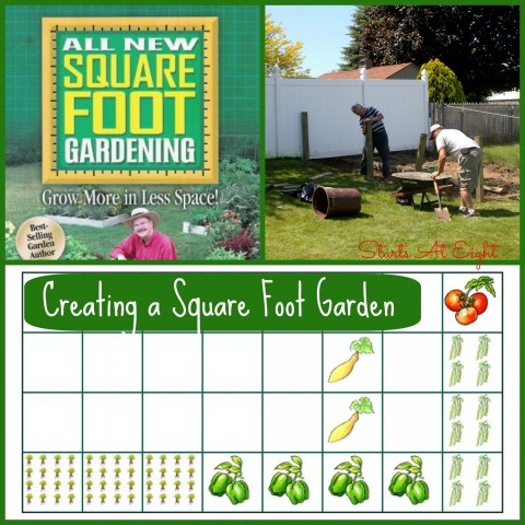 Creating a Square Foot Garden from Starts At Eight