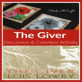 The Giver ~ Book Discussion & Colorless Activity