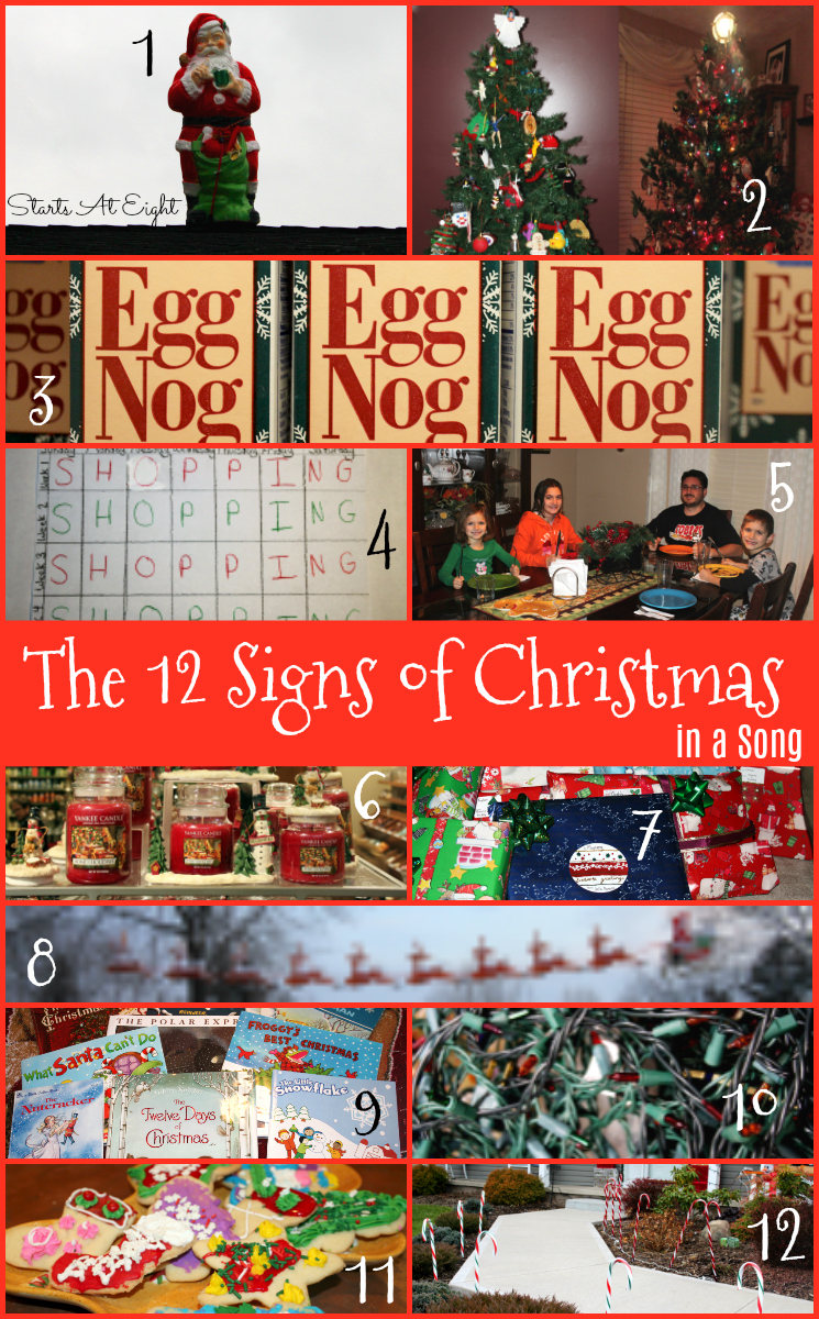 The 12 Days of Christmas...Ciravola Style: The 12 Signs of Christmas from Starts At Eight