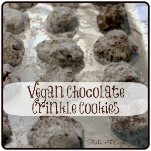 Vegan Chocolate Crinkle Cookies from Starts At Eight