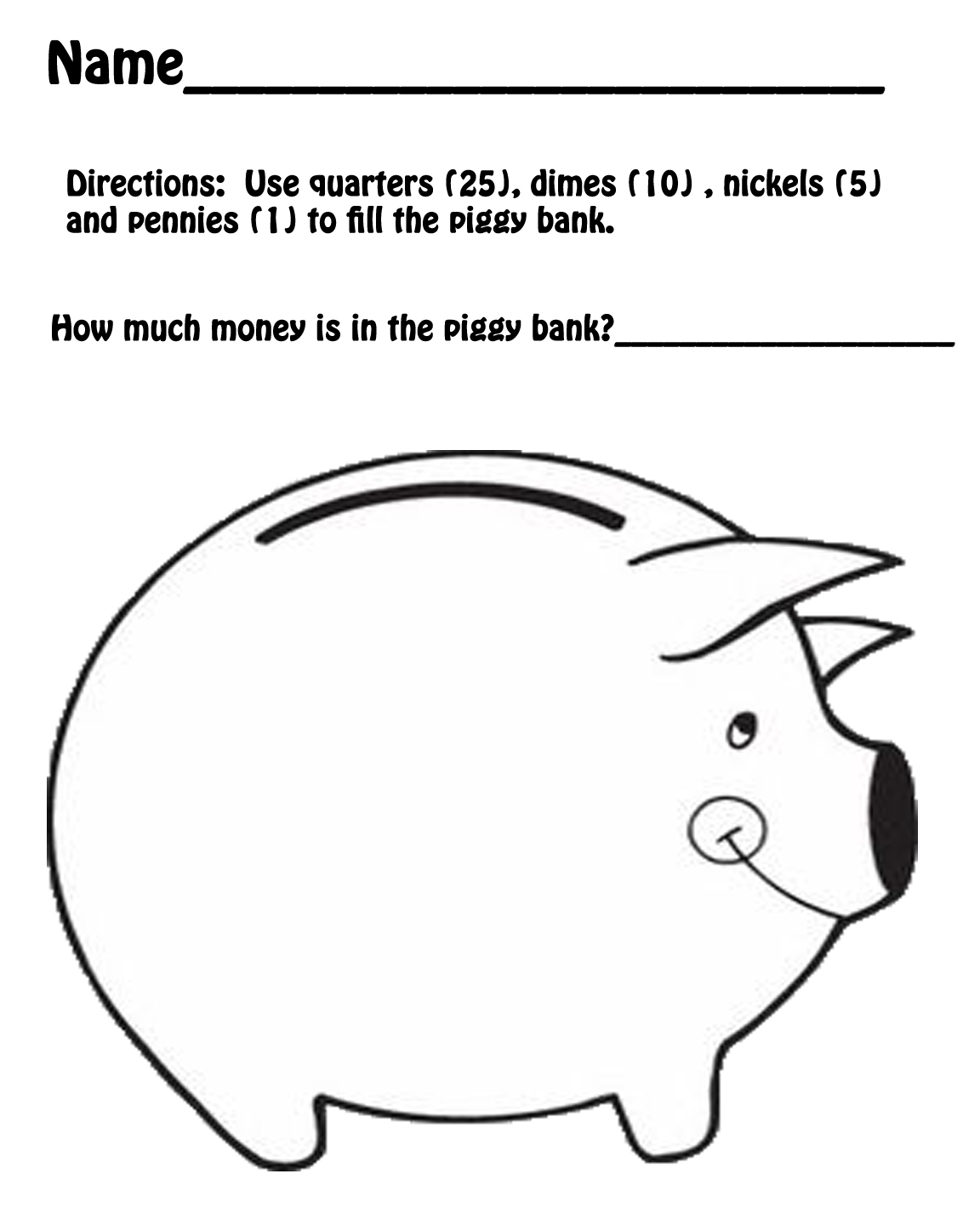 Terms of Use for the Printable Piggy Bank Template Download
