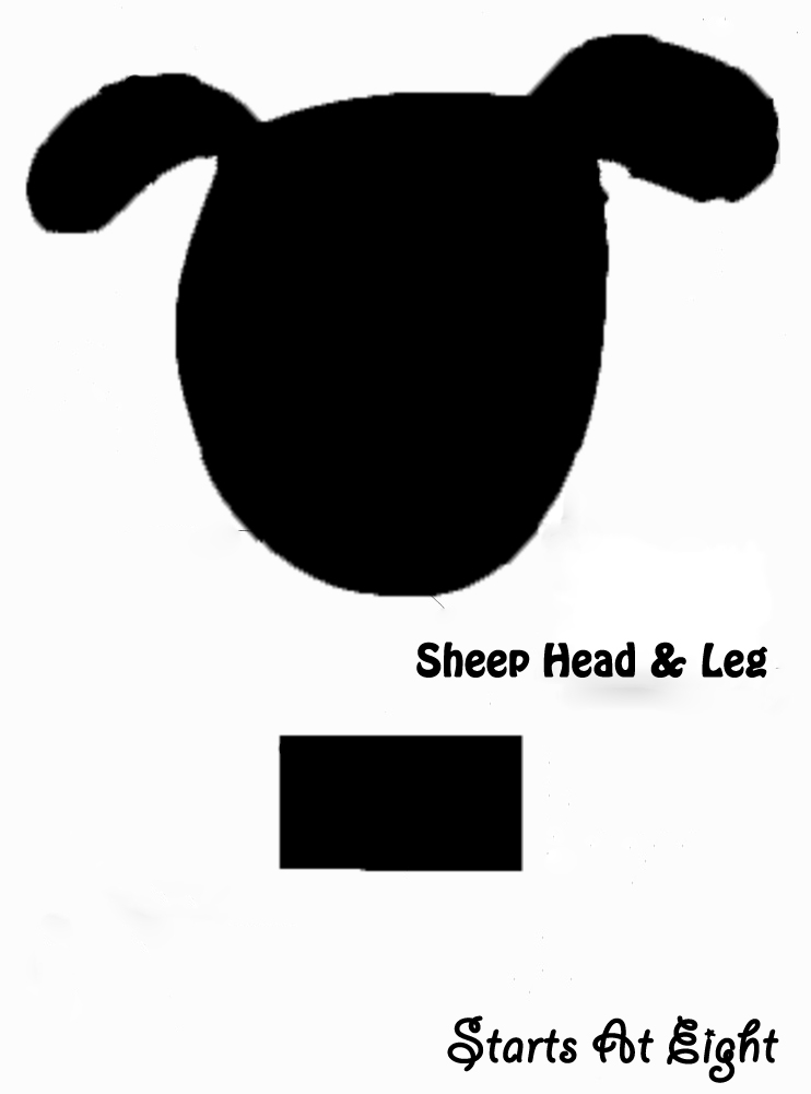 Cotton ball sheep craft facts startsateight for Lamb template to print