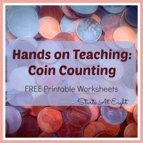 Hands On Teaching: Coin Counting from Starts At Eight