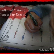 Teeth Unit ~ Week 2 ~ Science Fair Bunnies