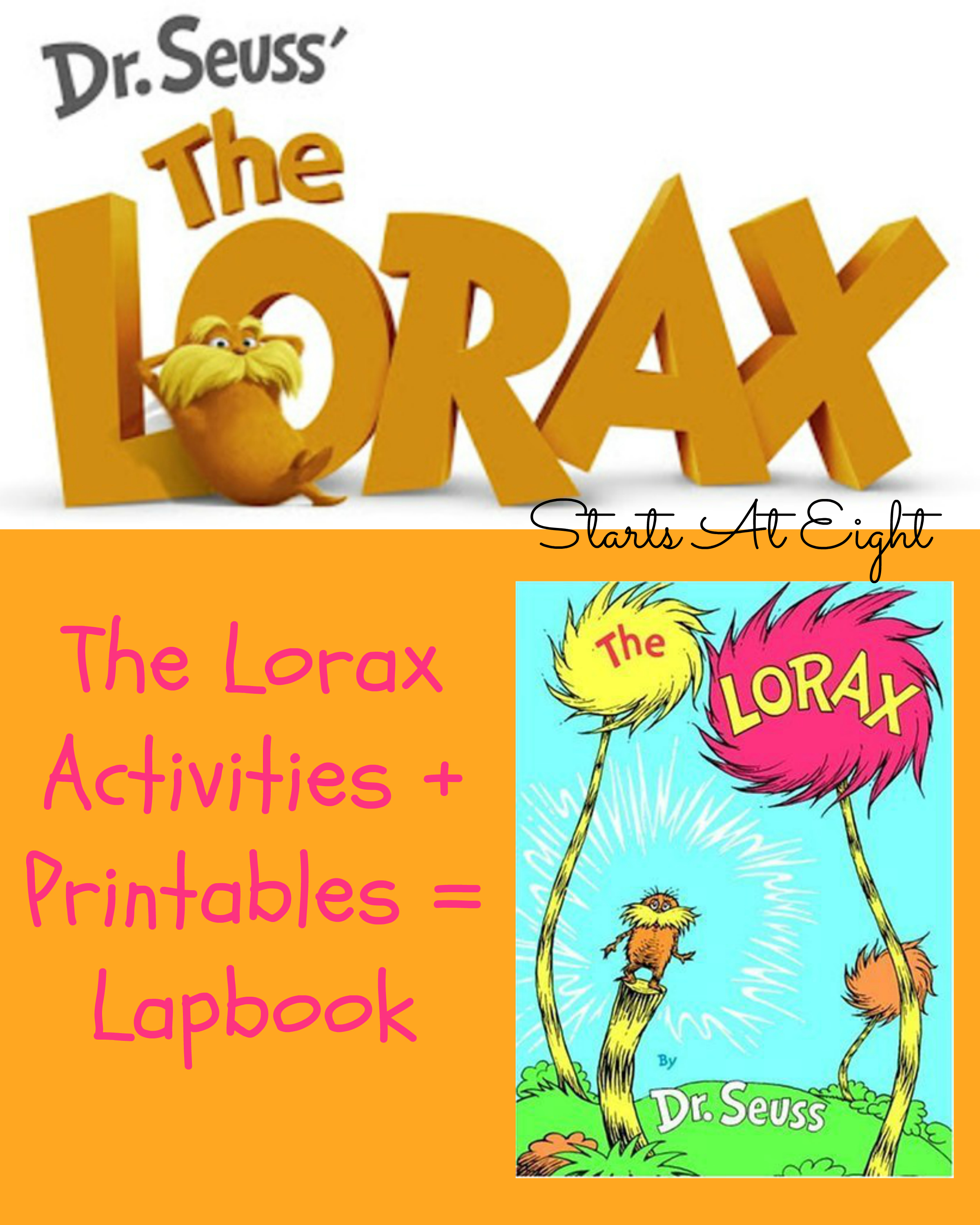 photograph relating to Lorax Printable called The Lorax Activites + Printables \u003d Lapbook - StartsAtEight