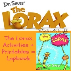 The Lorax Activites + Printables = Lapbook