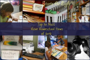 Top 10 Must Have Homeschool Items of 2012 from Starts At Eight
