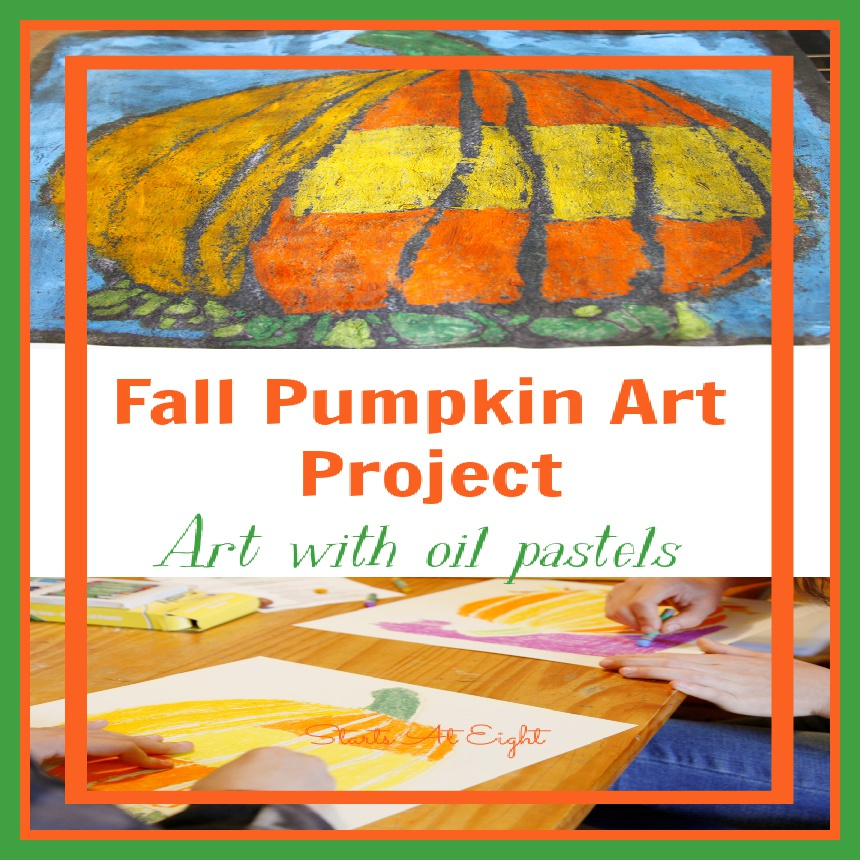 Oil Pastel Resistant Pumpkin Art Project