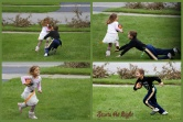 Wordless (almost) Wednesday ~ Sibling Flag Football