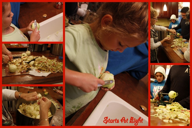 Making Applesauce Collage