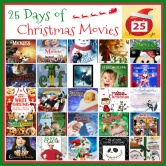 25 Days of Christmas Movies with Free Printable List