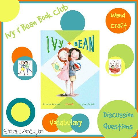 Ivy & Bean Book One: Book Club, Discussion Questions, & Craft from Starts At Eight
