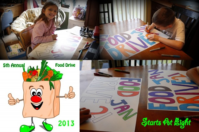 Food Drive Poster Collage