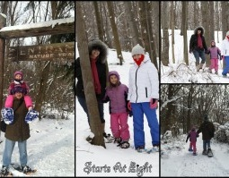 Wordless (Almost) Wednesday ~ Snowshoeing
