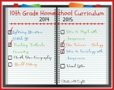 10th Grade Homeschool Curriculum ~ 2014-2015