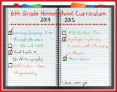 6th Grade Homeschool Curriculum ~ 2014-2015