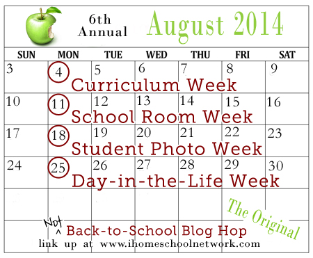 iHomeschool Network's Not Back to School Blog Hop Calendar 2014
