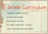 5th Grade Curriculum ~ 2013-2014