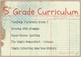 5th Grade Curriculum ~ 2013-2014