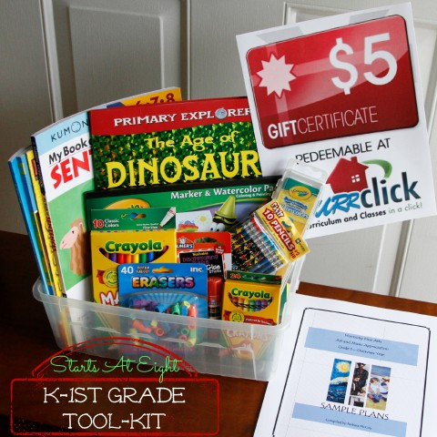 Kindergarten - 1st Grade Back to Homeschool Toolkit Basket