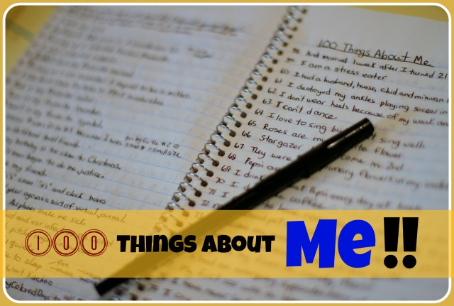 100 Things About Me