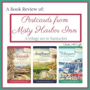 In the Postcards from Misty Harbor Inn Series Caroline, Gracie and Sam gather for a vacation where they spent the summers as children, and follows their adventures as they fulfill their mother's dream of opening a bed and breakfast on the historic and charming island of Nantucket.