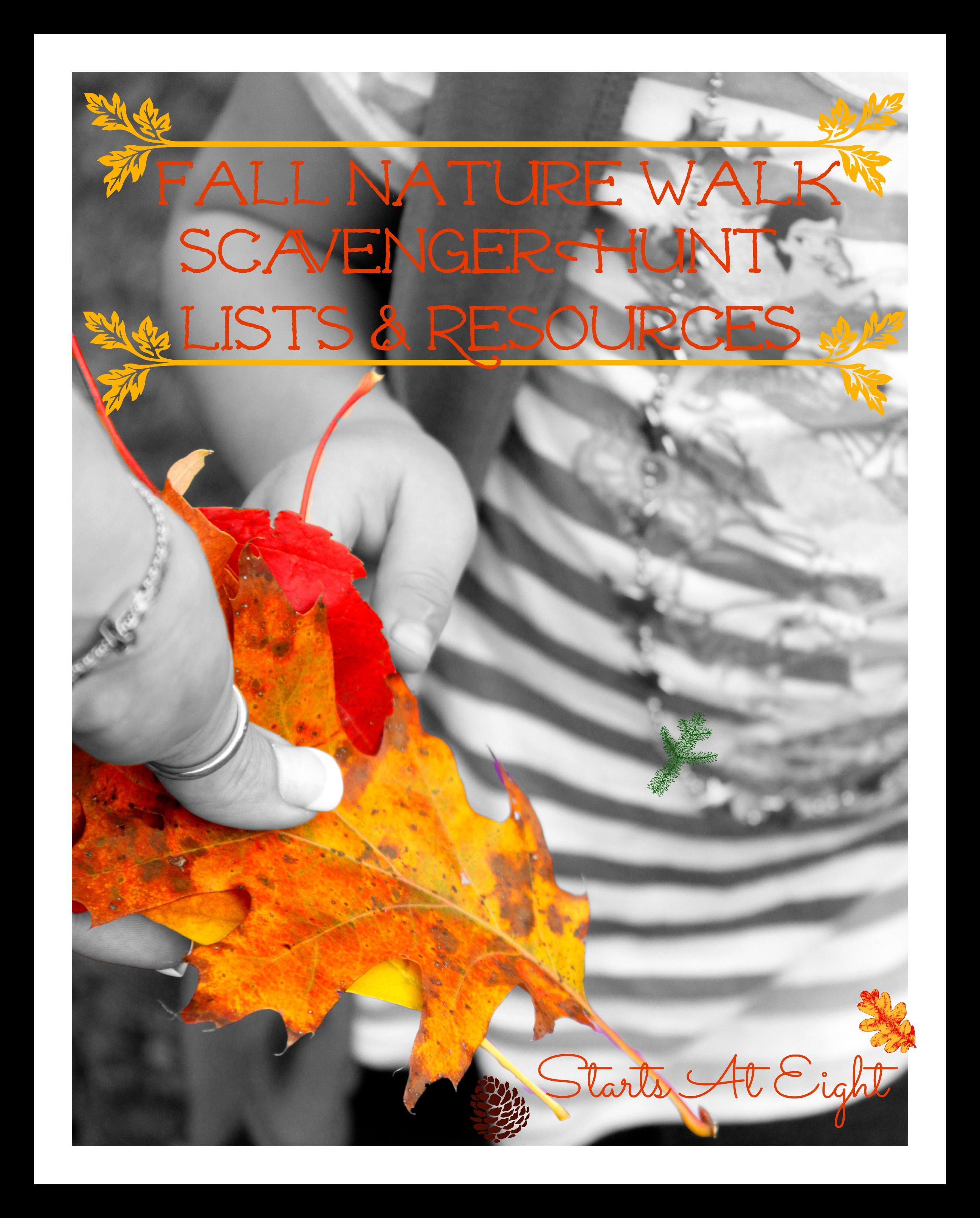 Fall Nature Walk – Scavenger Hunt Lists & Resources