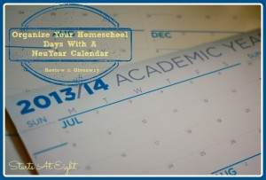 Organize Your Homeschool Days With A NeuYear Calendar