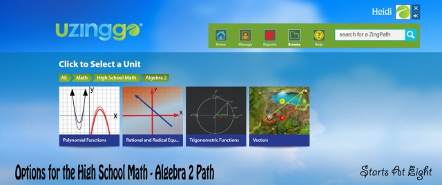 Options for Uzinggo High School Math - Algebra 2