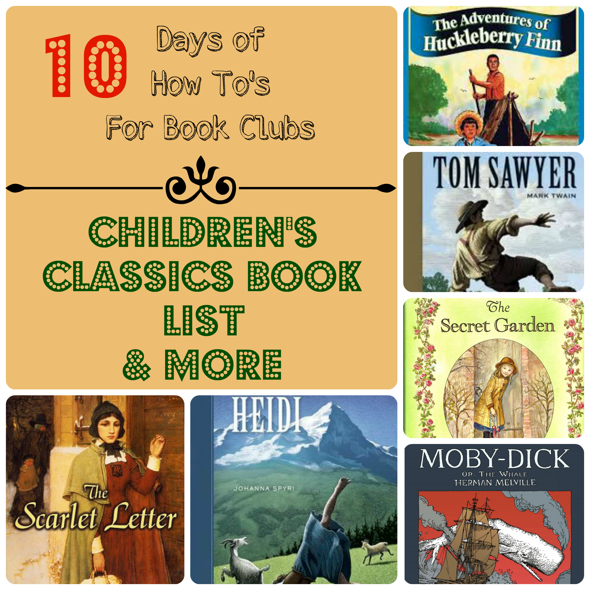 classics books classic children childrens literature club startsateight lists kid reading clubs age favorite finn read days around homeschool elementary