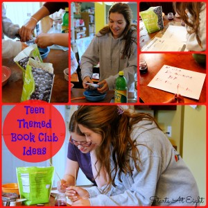 Teen Themed Book Club Ideas from Starts At Eight