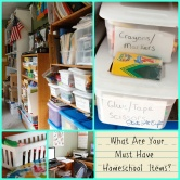 "What Are Your ""Must Have"" Homeschool Items? G+ Hangout"