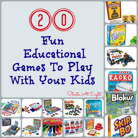 20 Fun Educational Games To Play With Your Kids from Starts At Eight