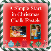 A Simple Start in Christmas Chalk Pastels