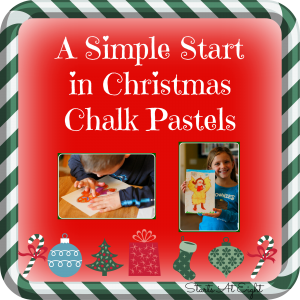 A Simple Start in Christmas Chalk Pastels from Starts At Eight