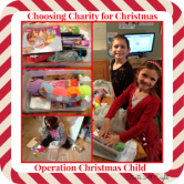 Choosing Charity for Christmas ~ Operation Christmas Child