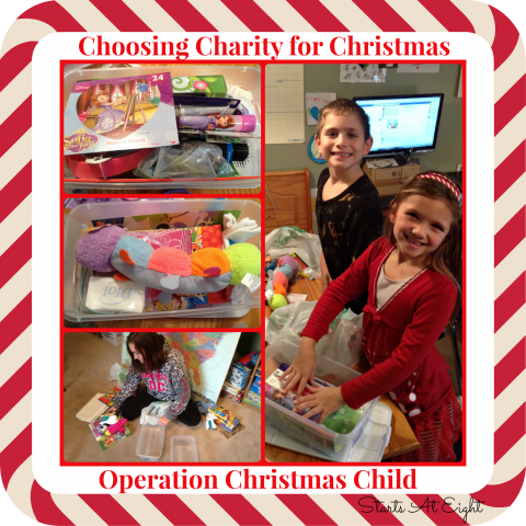 Choosing Charity for Christmas - Operation Christmas Child from Starts At Eight