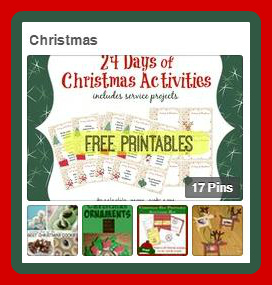 Christmas Pinterest Button