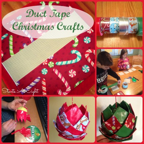 Duct Tape Christmas Crafts from Starts At Eight