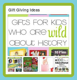 Gift Giving Ideas Pinterest Button