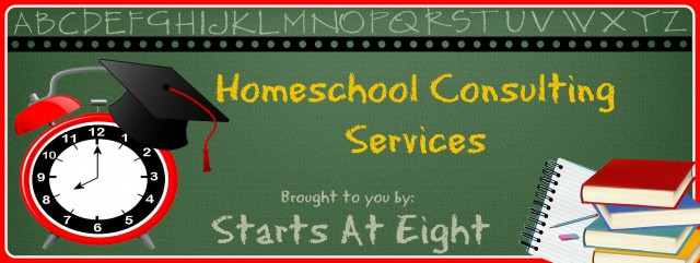Homeschool Consulting Services from Starts At Eight