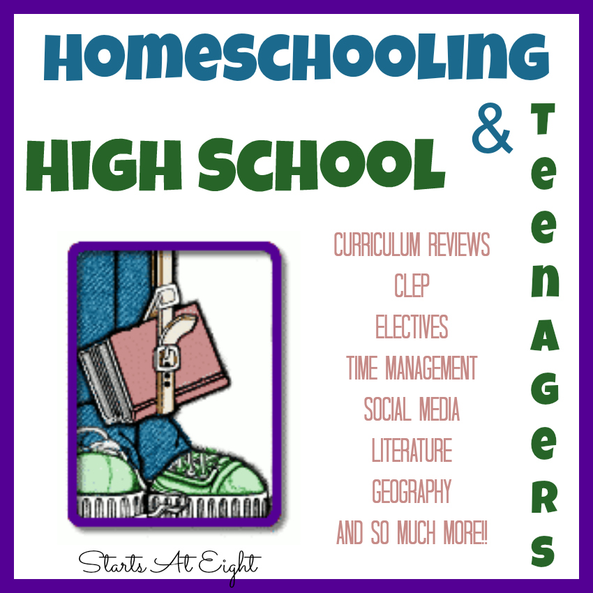 Homeschooling High School & Teens from Starts At Eight